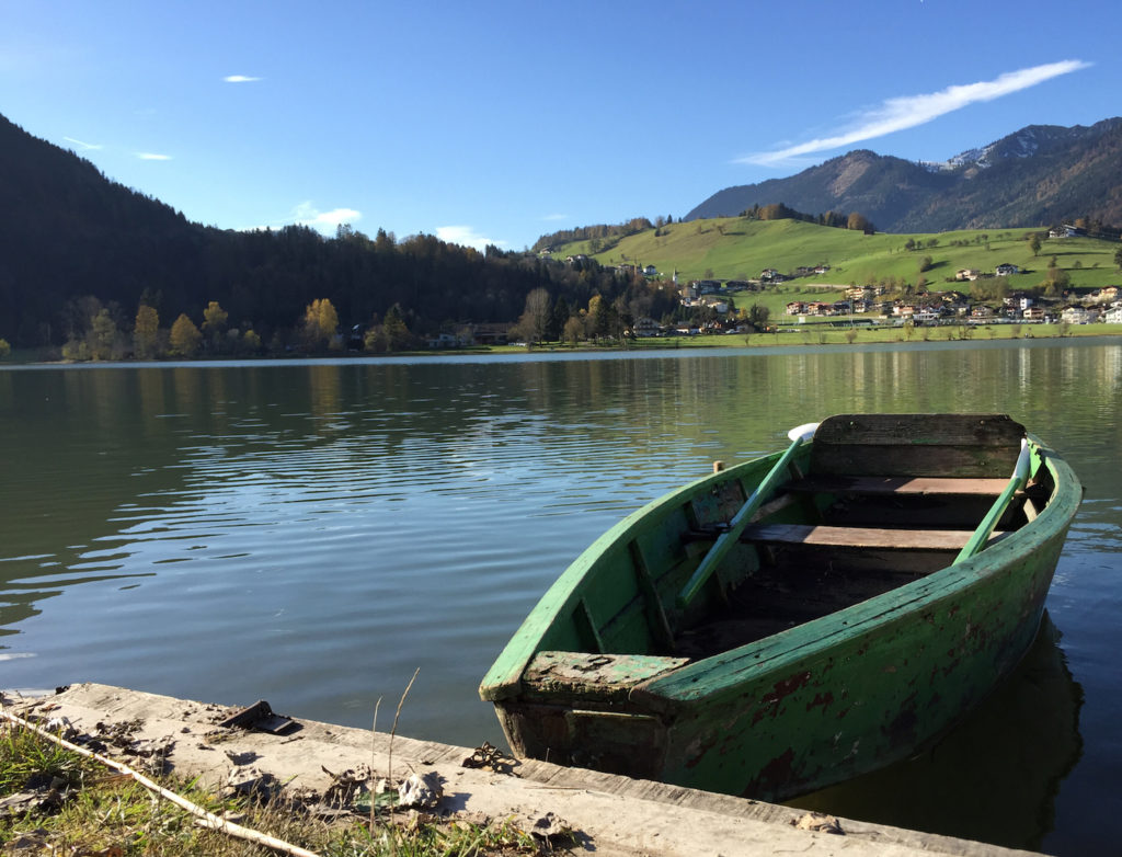 Ruderboot am Thiersee. (c) Marcus Eitzenberger