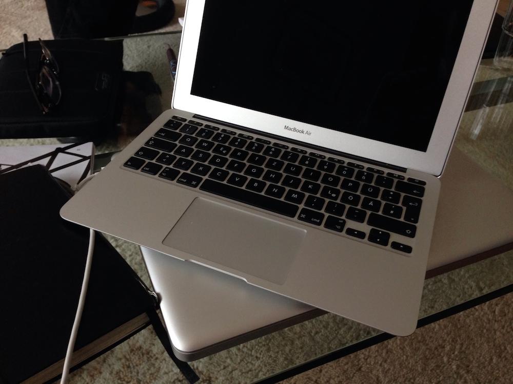 Hat meinen Flow zerstört: Macbook Air.