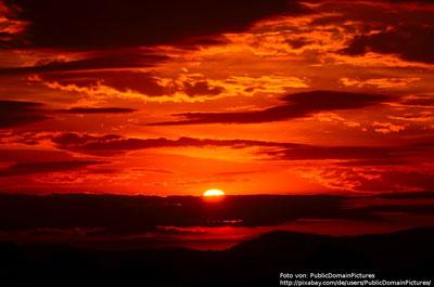 Sonnenuntergang ein Moment zum chillen