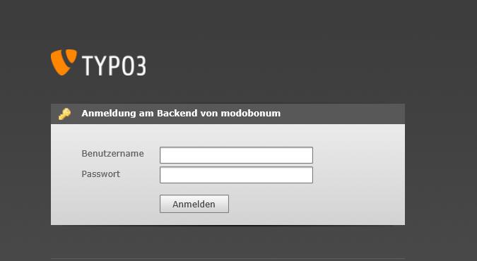 Screenshot Typo3