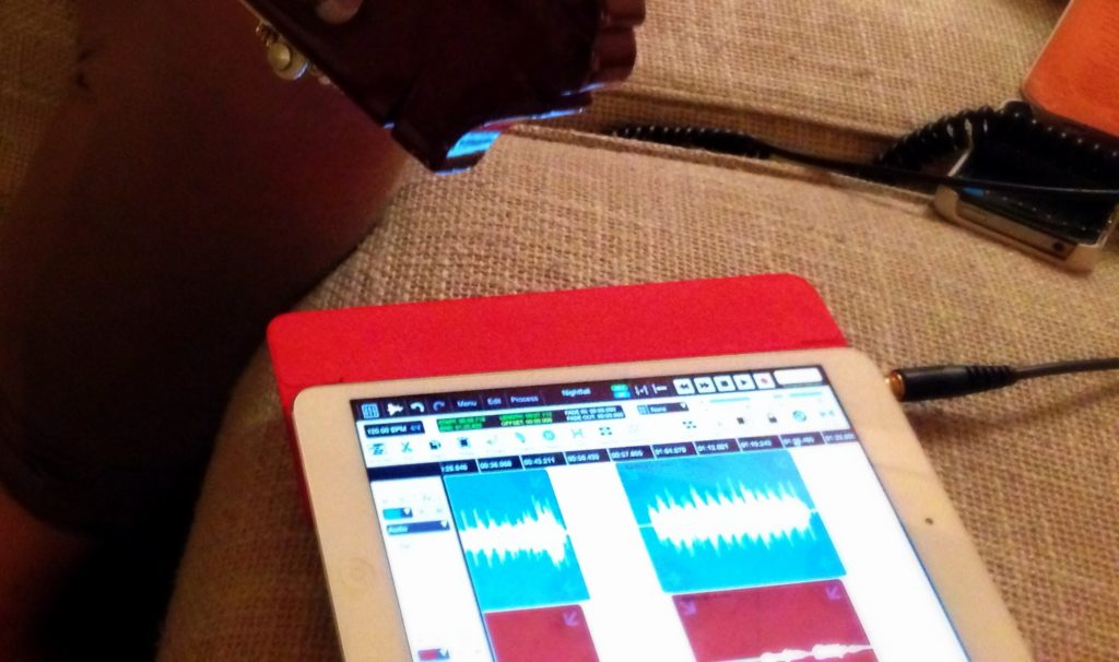 Eine musikalische Idee, festgehalten im iPad.