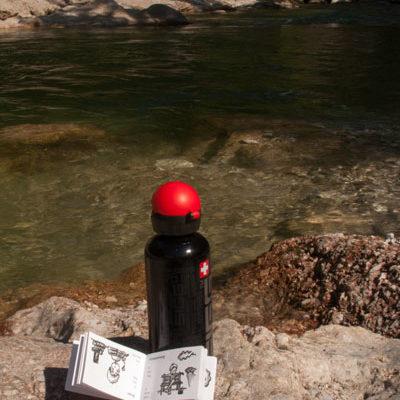 Pause bei der Bergtour – das Modobook im Urlaub