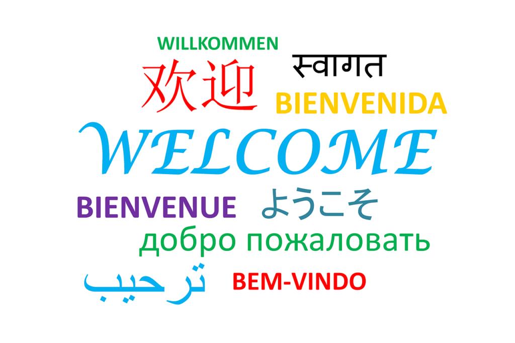 Sprache, Willkommen
