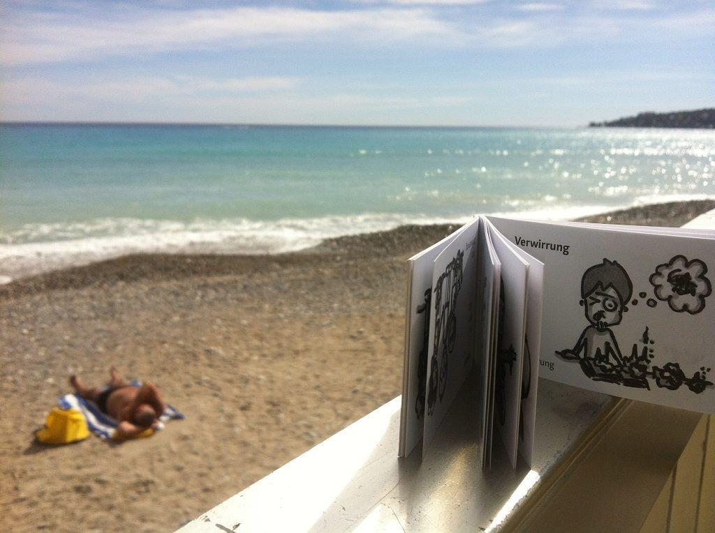 modobook am Strand