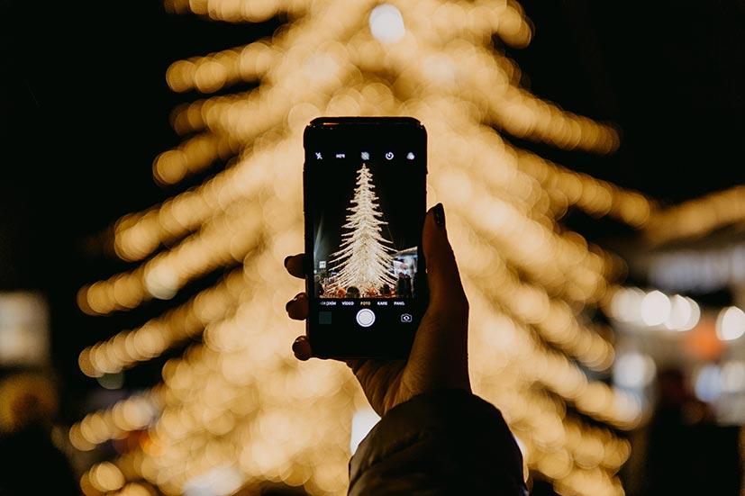Foto vom Weihnachtsbaum