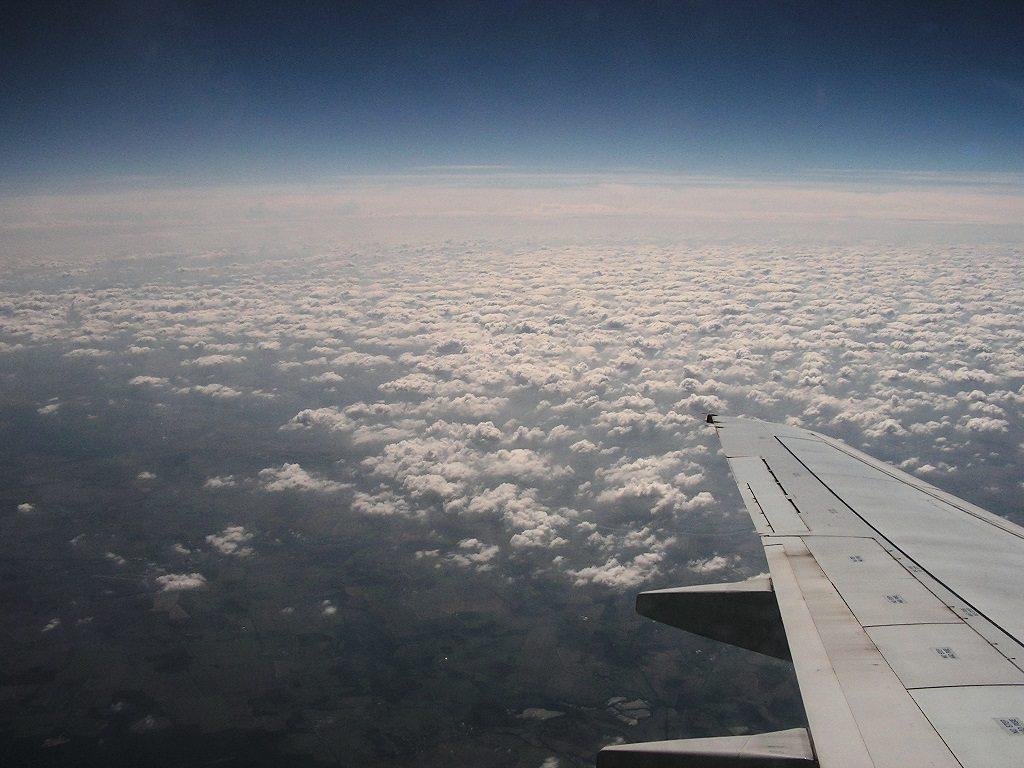 Wolken, Flughzeug