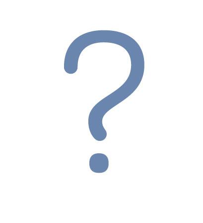Fragezeichen, blau, modobobzm, nur das gute
