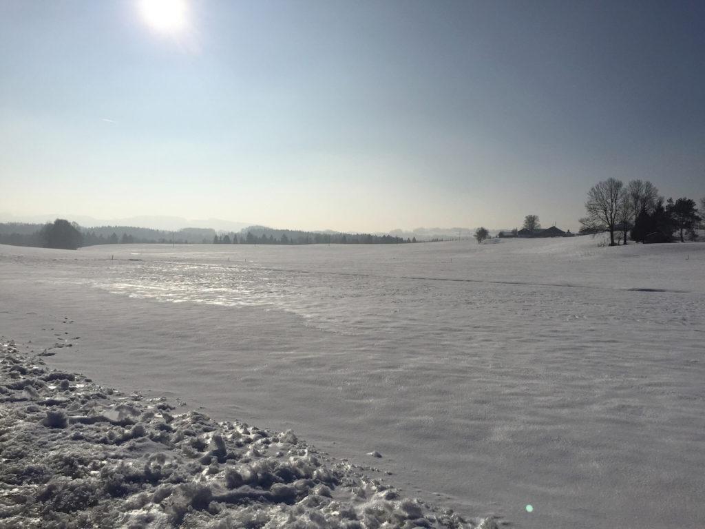 Schnee am Irschenberg